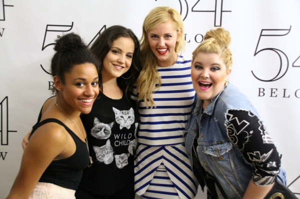 A BRING IT ON reunion, with Ariana DeBose, Janet Krupin, Taylor Louderman, and Ryann Redmond.