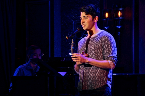 Nick Savarese sings a mash-up of The Beatles' ''Yesterday,'' Rodgers and Hart''s ''It Never Entered My Mind,'' and Irving Berlin''s ''Say It Isn't So,'' with music director Benjamin Rauhala at the piano.