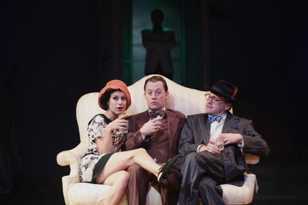 Caitlin McWethy as Mrs. McKee, Justin McCombs as Nick Carraway, and Josh Katawick as Mr. McKee