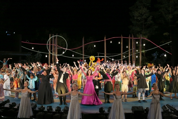 The company of The Public Theater's Public Work's free production of The Winter's Tale