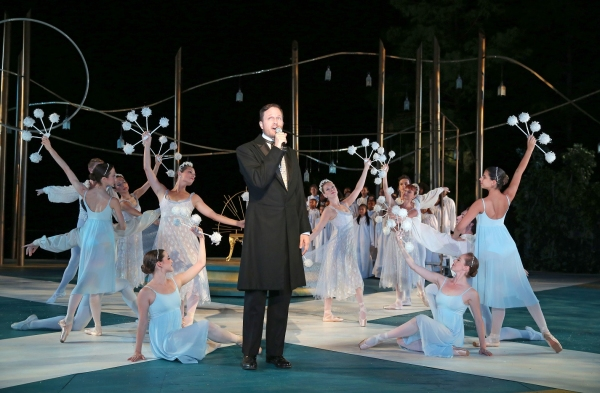 Todd Almond (center) and members of New York Theatre Ballet