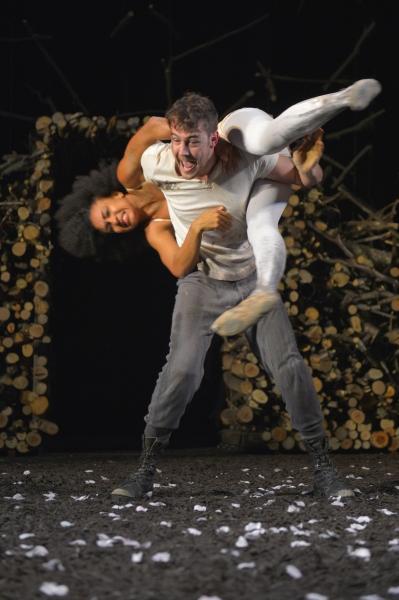 Tristan Cunningham as Hermia and Dan Clegg as Lysander  Photo