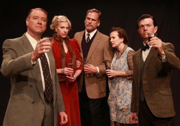 Albrecht Richter (Fritz Dickmann), Lyia Vivian (Elizabeth Marshall Black), George Bourne (Joe Kirkendall), Nora Shattock (Celeste Roberts), and Chorley Bannister (Joel Sandel)