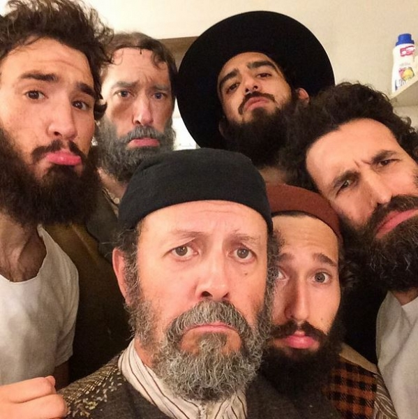 Photo Flash: Saturday Intermission Pics September 6  Part 2  FIDDLER ON THE ROOF  Cast Shows Off Beards, ...