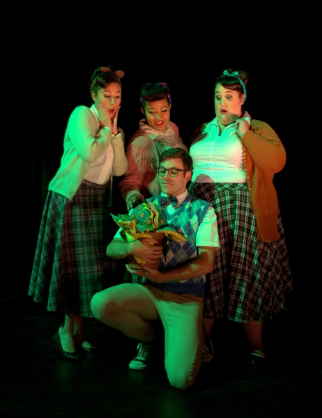 Shannon Dowling as Ronette, Shani King as Chiffon, Michelle Abad as Crystal & Ryan Bohannon as Seymour