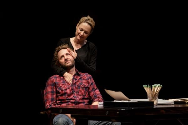 Kate Blumberg as Miriam and Todd Weeks as Daniel Photo