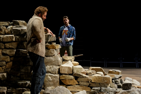 "Todd Weeks (left) as �""Daniel"" and Ian Littleworth as Luke in Katie Sapper as Crystal"