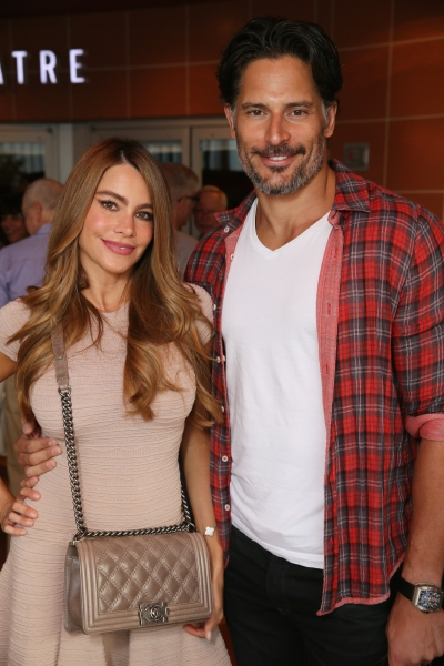 Actors Sofi­a Vergara and Joe Manganiello