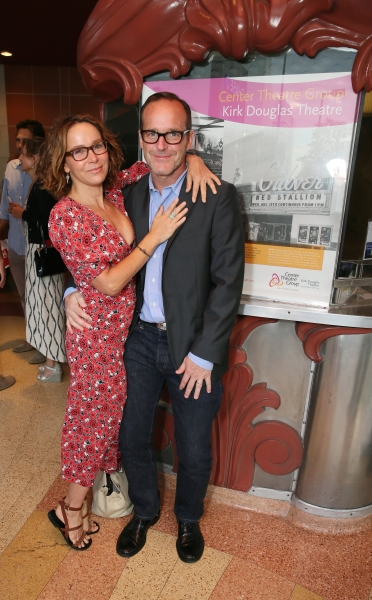 Actors Jennifer Grey and Clark Gregg