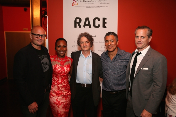 Cast members Chris Bauer, DeWanda Wise, Director Scott Zigler and cast members Dominic Hoffman and Jonno Roberts