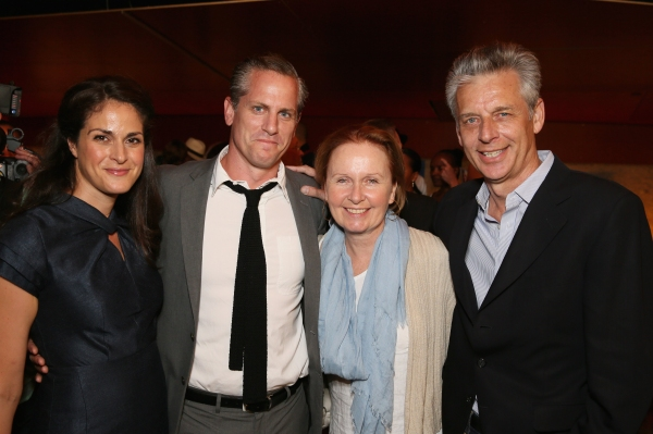 Georgia Hatzis, cast member Jonno Roberts, actress Kate Burton and CTG Artistic Director Michael Ritchie