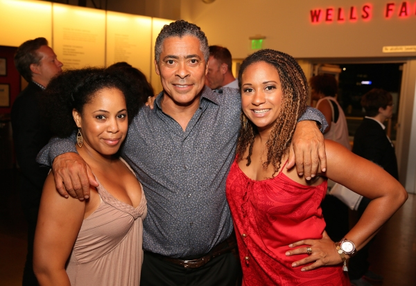 Lynn Wactor, cast member Dominic Hoffman and  actress Tracie Thoms