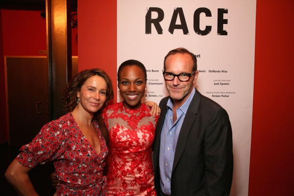 Actress Jennifer Grey, cast member DeWanda Wise and actor Clark Gregg