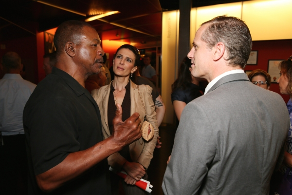 Actor Carl Weathers, actress Christine Kludjian and cast member Jonno Roberts