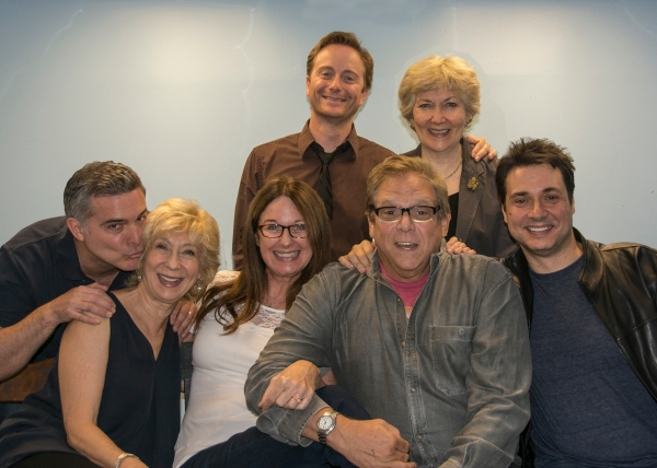 Peter Davenport, Peggy J. Scott, Catherine Butterfield, director Stuart Ross, Adam Ferrara; (top row, l-r): Jeffrey C. Hawkins, Artistic Director Jan Buttram