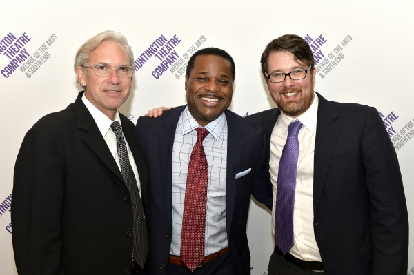 Director David Esbjornson, Malcolm-Jamal Warner (Dr. John Prentice), and Playwright Todd Kreidler