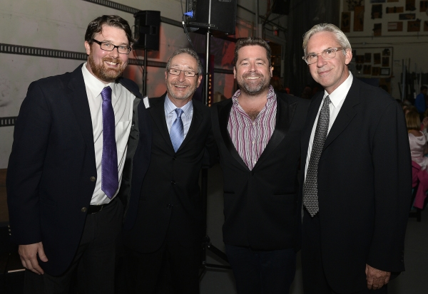 Playwright Todd Kreidler, Huntington Theatre Company Managing Director Michael Maso, Huntington Theatre Company Artistic Director Peter DuBois, and Director David Esbjornson