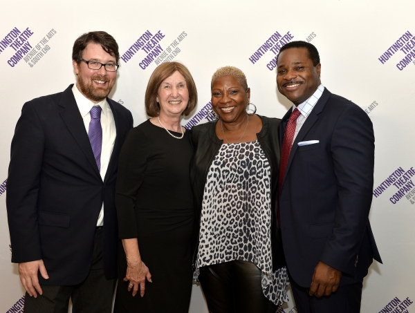 Playwright Todd Kreidler, his mother Sue Kreidler, mother and manager Pamela Warner, and Malcolm-Jamal Warner (Dr. John Prentice)
