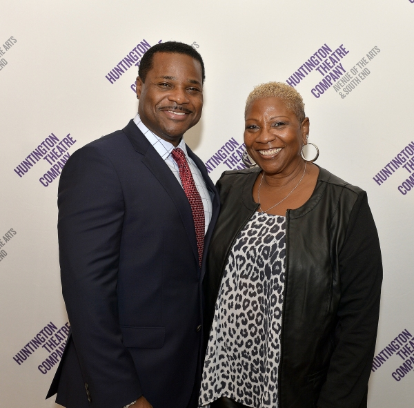 Malcolm-Jamal Warner (Dr. John Prentice) and his manager and mother Pamela Warner