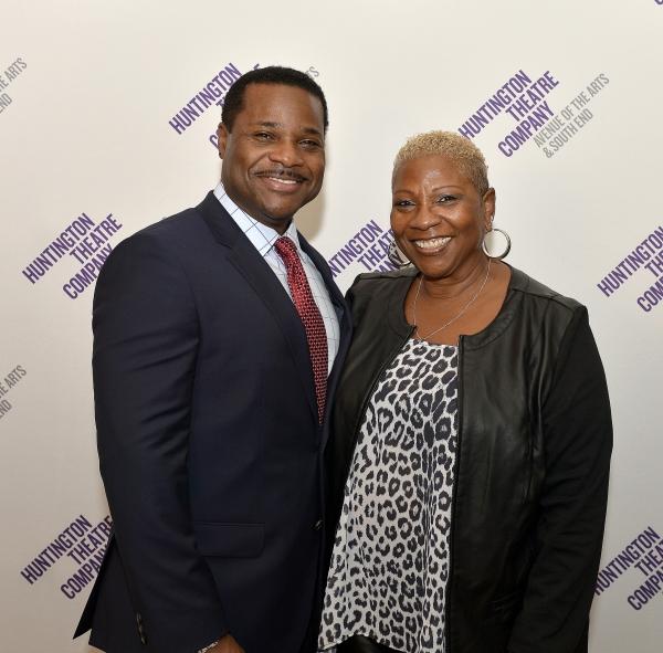 Malcolm-Jamal Warner (Dr. John Prentice) and his manager and mother Pamela Warner