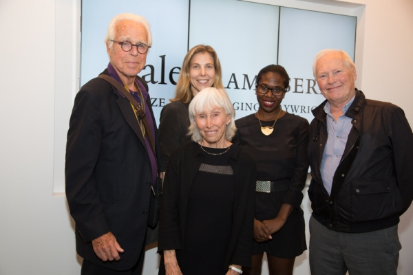 Playwright John Guare, director Carolyn Cantor, Francine Horn