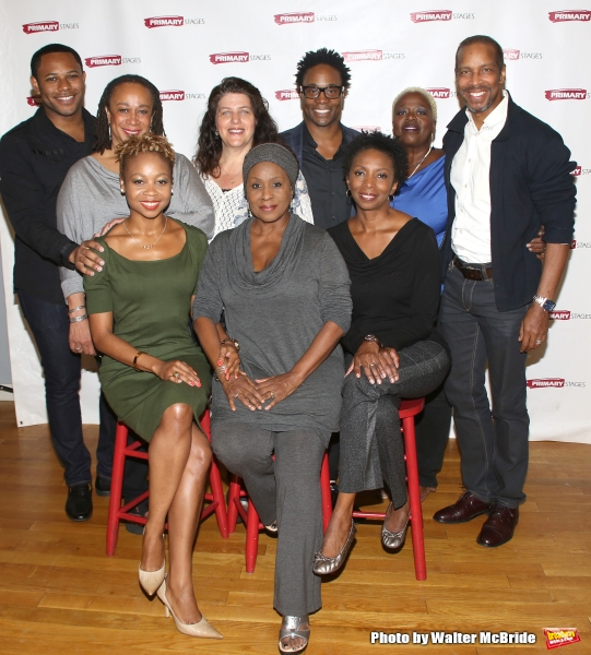 (L-R, Top) Larry Powell, S. Epatha Merkerson, Sheryl Kaller, playwright Billy Porter, Lillias White, Kevyn Morrow, (L-R, Bottom) Sheria Irving, Elain Graham and Sharon Washington