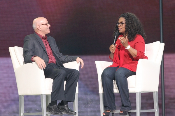 Oprah Winfrey with poet and philosopher Mark Nepo