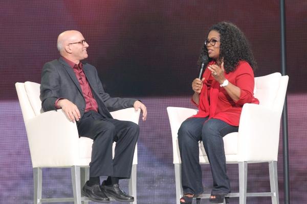 Oprah Winfrey with poet and philosopher Mark Nepo
