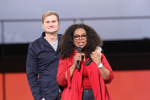 Oprah Winfrey with Pastor Rob Bell