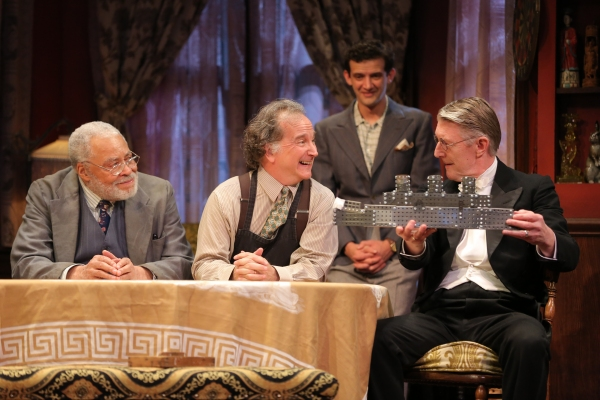 James Earl Jones, Mark Linn-Baker, Will Brill and Byron Jennings