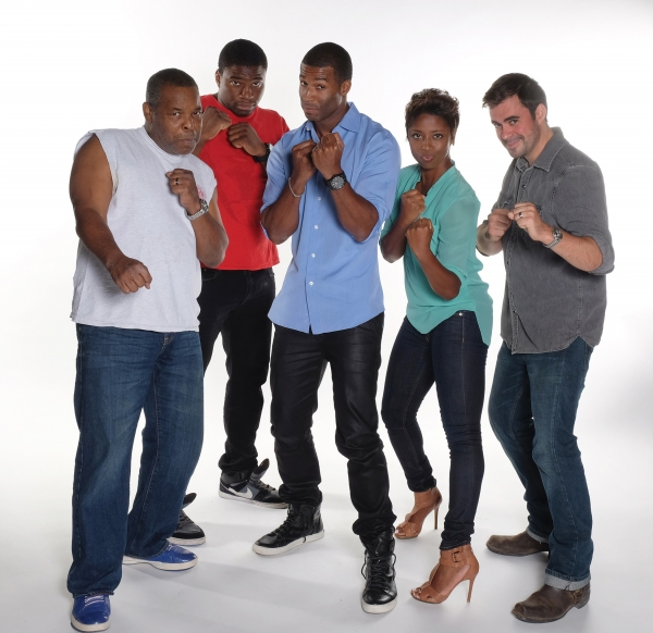 The cast of The Royale: Ray Anthony Thomas, Okieriete Onaodowan, Robert Christopher Riley, Montego Glover, and John Lavelle