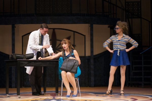 _Scott Stratton as ensemble, Cory Goodrich as Pepa and Kayla Kennedy as Christina
