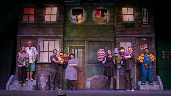 Bomi Yim as Christmas Eve, Glenn R. Couture as Brian, Mike L'Altrella as Princeton, Patricia McCarthy as Kate Monster, Carey Van Hollen as Lucy T. Slut, Jamison Daniels with Rod and Nicky, and Jamison Love Barbosa as Gary Coleman. UPPER WINDOWS: The Bad