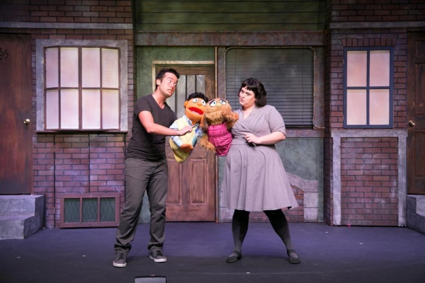 Mike L'Altrella as Princeton and Patricia McCarthy as Kate Monster Photo