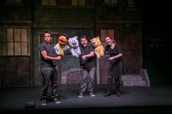 Mike L'Altrella with Princeton and Carey Van Hollen and Jamison Daniels both puppeting The Bad Idea Bears