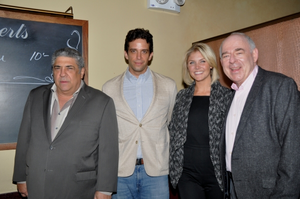 Vincent Pastore, Nick Cordero, Amanda Kloots-Larsen and Lenny Wolpe