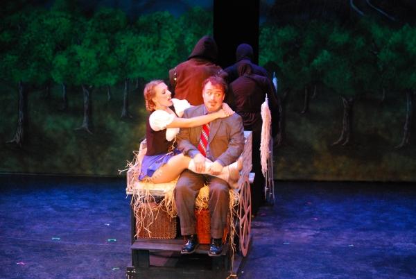 Inga (Lariena Brown) welcomes Frederick to Transylvania. Photo by Bill Peeler.