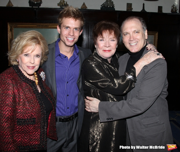 Eileen Fulton, Hunter Ryan Herdlicka, Polly Bergen & Charles Busch.attending the Joan Photo