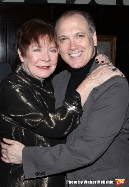 Polly Bergen & Charles Busch.attending the Joan Rivers hosted book party in honor of authors, Alan Shayne and Norman Sunshine''s new book, ''Double Life: A Love Story from Broadway to Hollywood at the 21 Club in New York City.