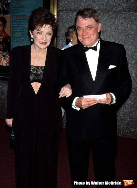 Polly Bergen (In Vintage Armani) with Rex Reed 55th Annual Tony awards.Radio City, NYC.6/3/2001