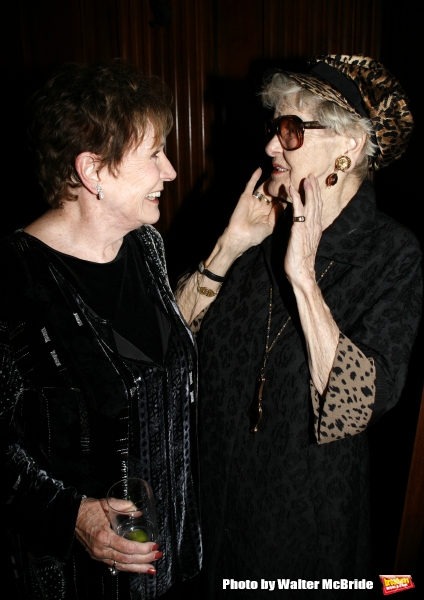 Polly Bergen & Elaine Stritch.attending the Primary Stages 23rd Anniversary Gala.honoring Jack O''Brien and Daryl Roth at a Private Club in New York City..November 12, 2007.