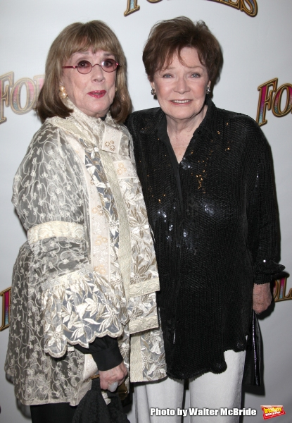 Phyllis Newman & Polly Bergen.attending the Broadway Opening Night Performance of ''Follies'' at the Marquis Theatre in New York City,