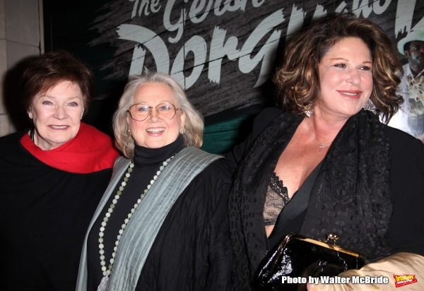 Polly Bergen, Barbara Cook and Lainie Kazan.attending the Opening Night Performance of ''The Gershwins'' Porgy & Bess'' at the Richard Rodgers Theatre in New York City. 1/12/2012