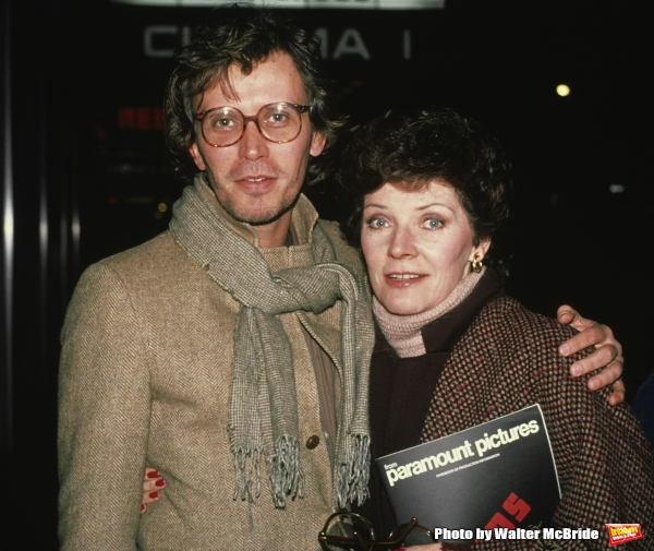 Peter Weller and Polly Bergen pictured in New York City in 1981.
