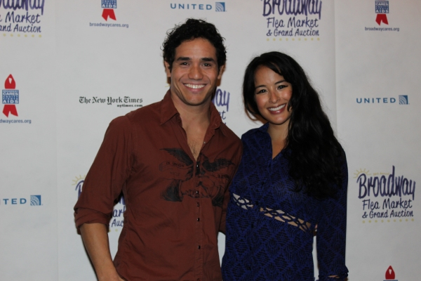 Adam Jacobs and Courtney Reed