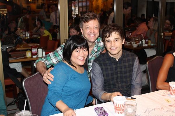 Ann Harada, Jim Caruso and Andy Mientus