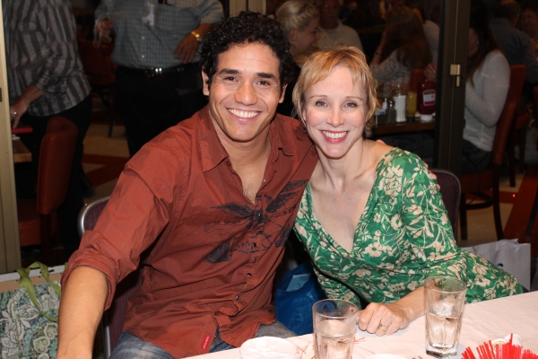 Adam Jacobs and Charlotte d'Amboise