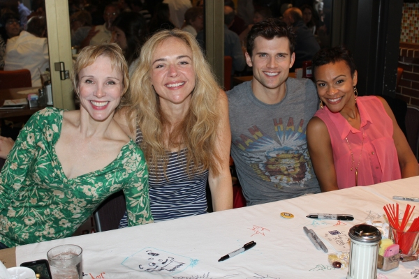 Charlotte d'Amboise, Rachel Bay Jones, Kyle Dean Massey and Carly Hughes