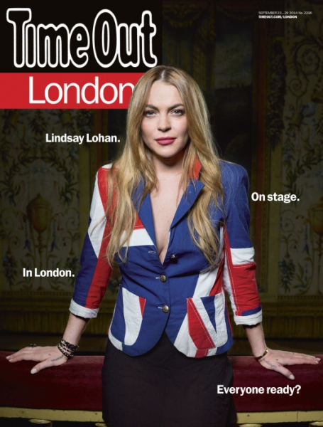 Lindsay Lohan on the cover of Time Out London Photo