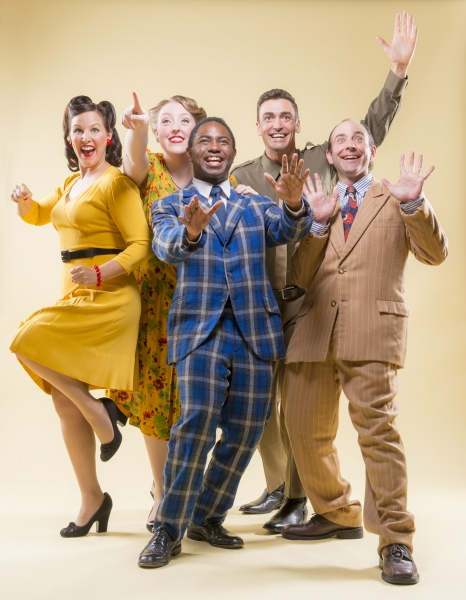 Dyan McBride, Heather Orth, AeJay Mitchell, Tyler McKenna, and Brian Herndon sing ''There''s a Happy Land in the Sky''